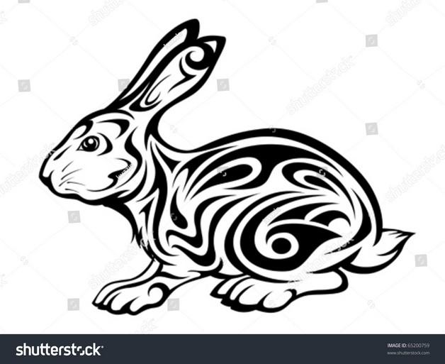 Chinese New Year Rabbit Tattoos Set photo - 1