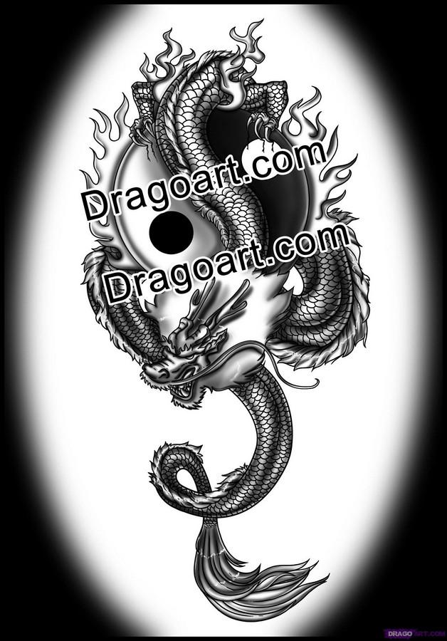 Chinese Yin Yang Tattoo On Biceps photo - 1
