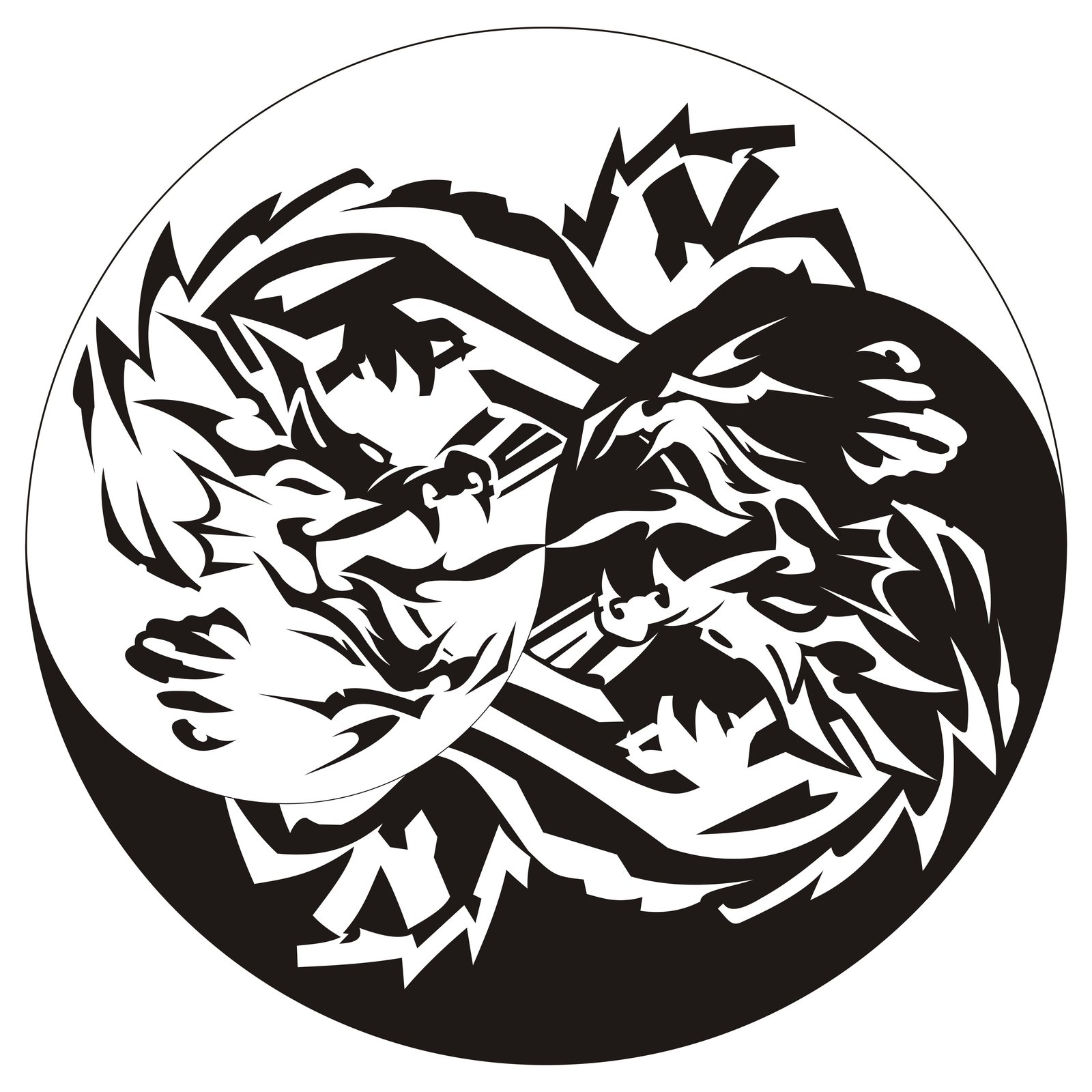 Chinese Ying Yang Tattoo Graphic photo - 1
