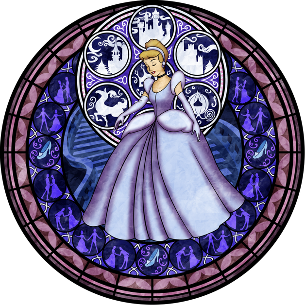 Cinderella Stained Glass Tattoo Graphic photo - 1
