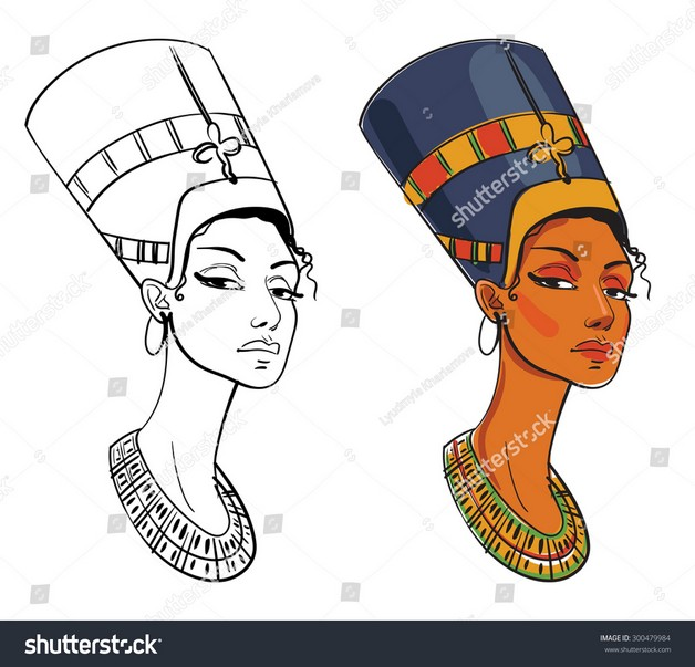 Color Egyptian Queen Tattoo photo - 1