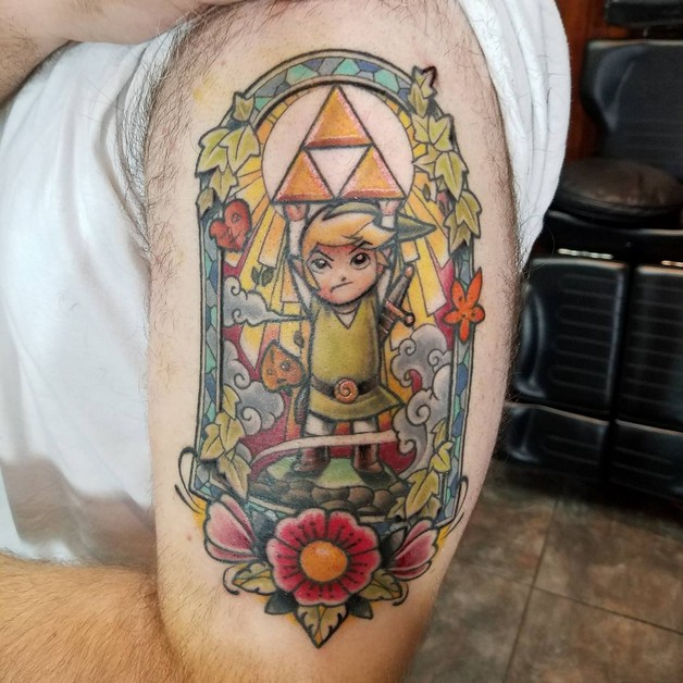 Color Ink Stained Glass Tattoos photo - 1
