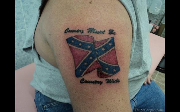 Confederate Flag Tattoo On Biceps photo - 1