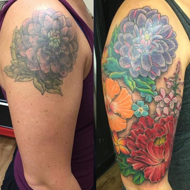 Creative Flower Tattoo Design photo - 1
