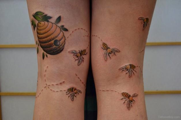 Cute Bee Tattoo photo - 1
