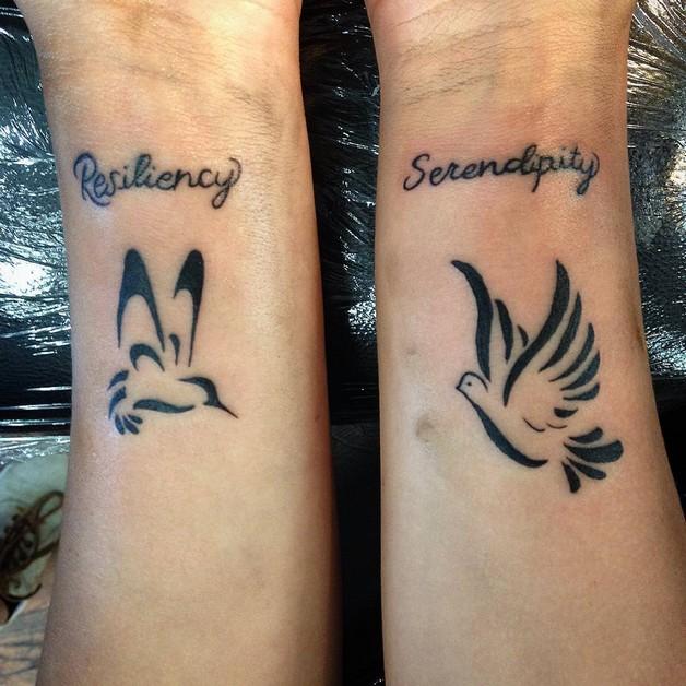 Cute Literary Tattoo On Wrist photo - 1
