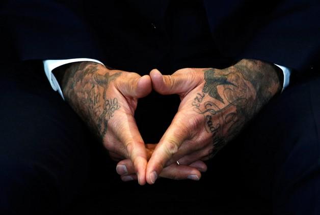 David Beckham New Hand Tattoo photo - 1