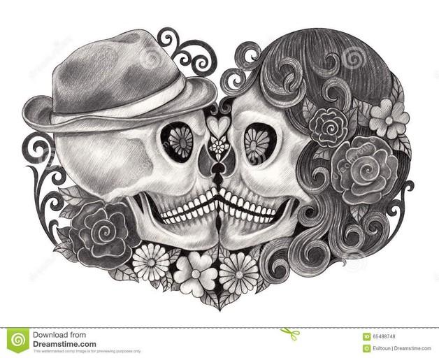 Dia De Los Muertos Skull Teeth Hand Tattoo Design