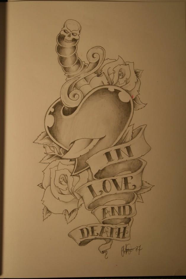 Diamond Banner Tattoo Design photo - 1