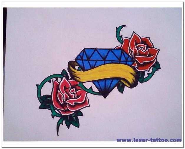 Diamond Tattoo Design For Lower Back photo - 1