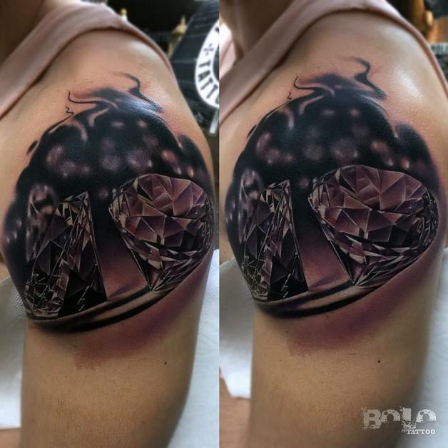 Diamond Tattoo Designs On Knee photo - 1