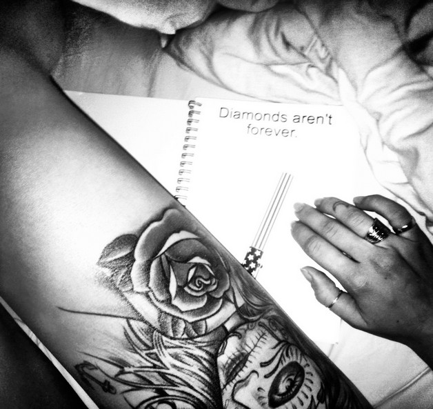 Diamonds Arent Forever Tattoo Design photo - 1
