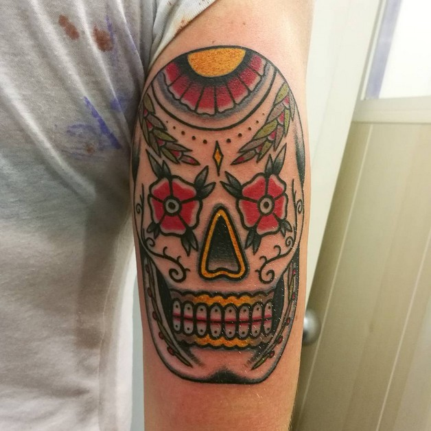 Different Mexican Skull Tattoo Designs photo - 1