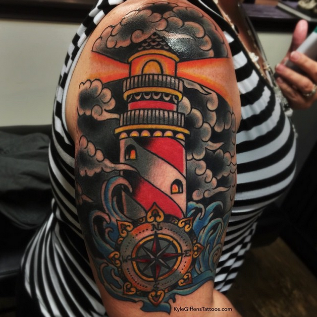 Diver In Bottle Tattoo photo - 1