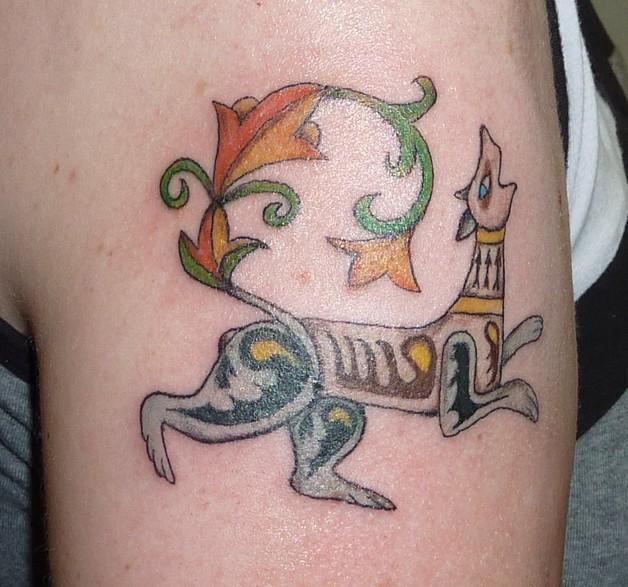 Dog Tattoo Design On Biceps photo - 1