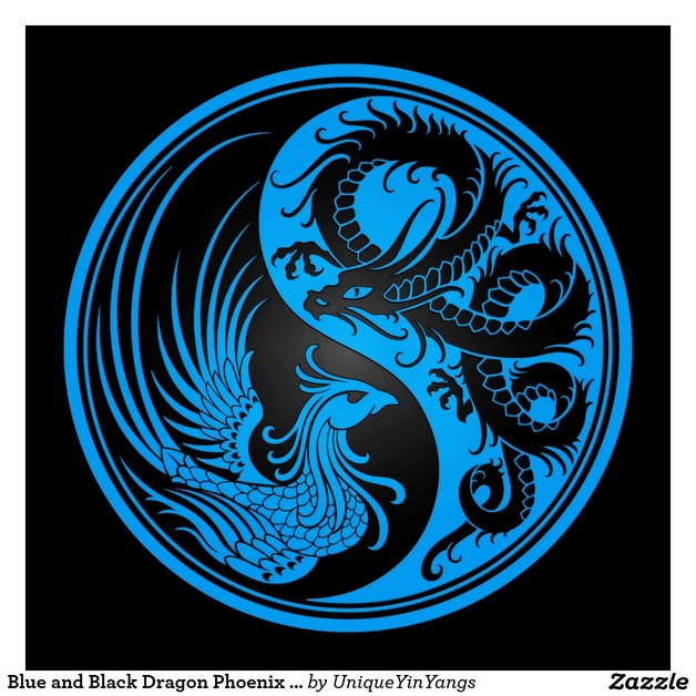 Dragon Ying Yang Tattoo Model photo - 1