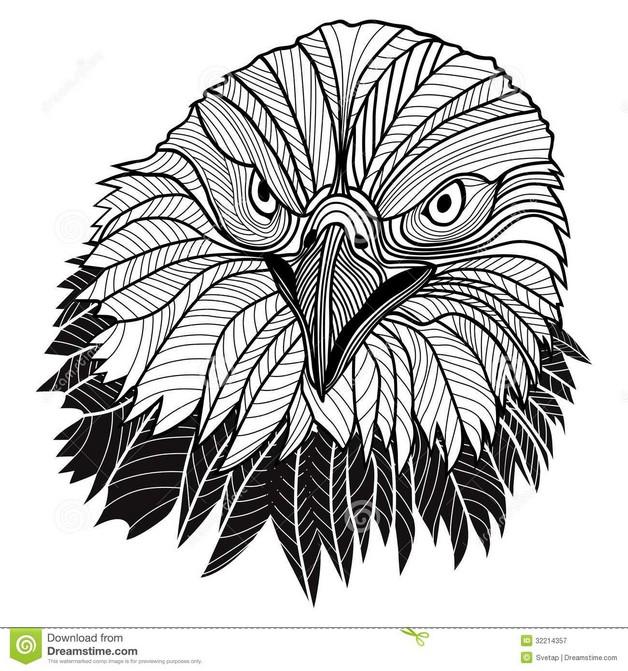 Eagle Mascot Tattoo Design photo - 1
