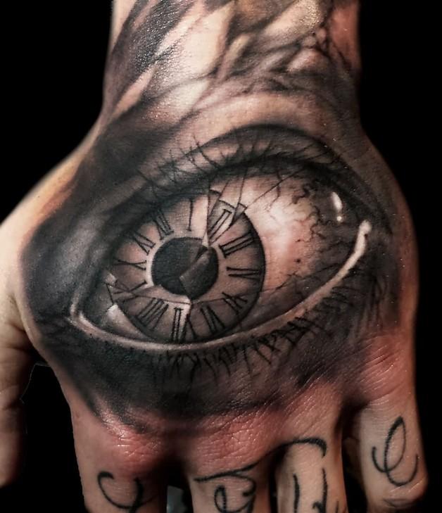 Eye Hour Glass Tattoo photo - 1
