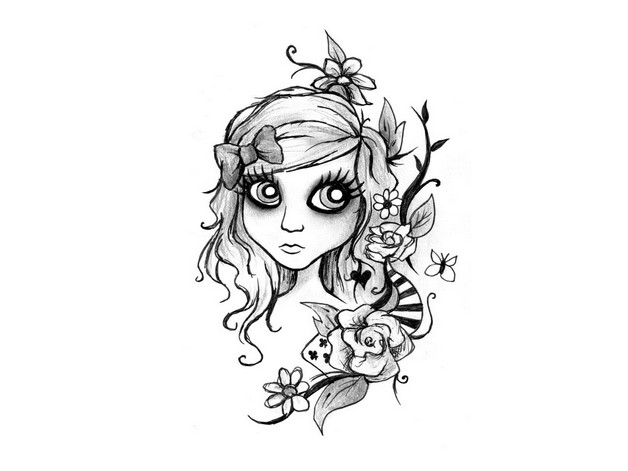 Fairy Bumblebee Tattoo Design photo - 1