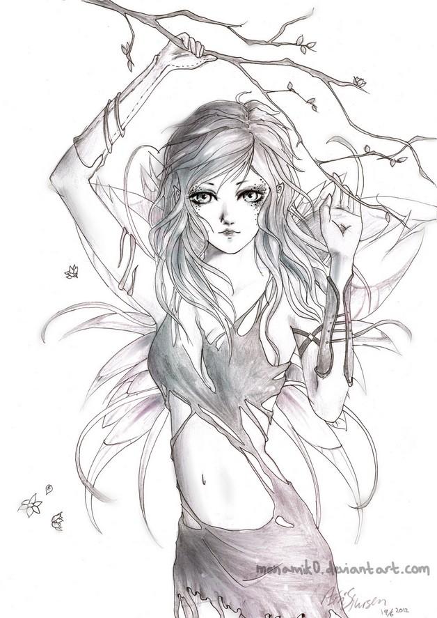 Fairy Queen Tattoo Sketch photo - 1