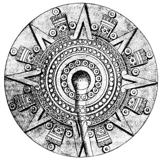 Fantastic Mexican Aztec Tattoo Design photo - 1