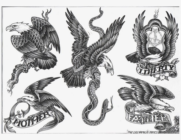 Fantastic Mexican Eagle Tattoo Design photo - 1