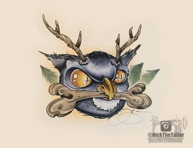 Fantasy Hummingbird Tattoo Design photo - 1