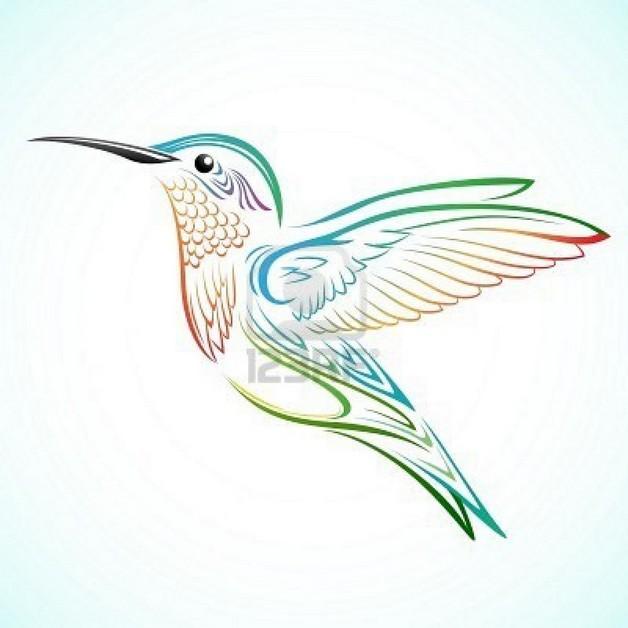 Feminine Hummingbird Tattoo Design photo - 1