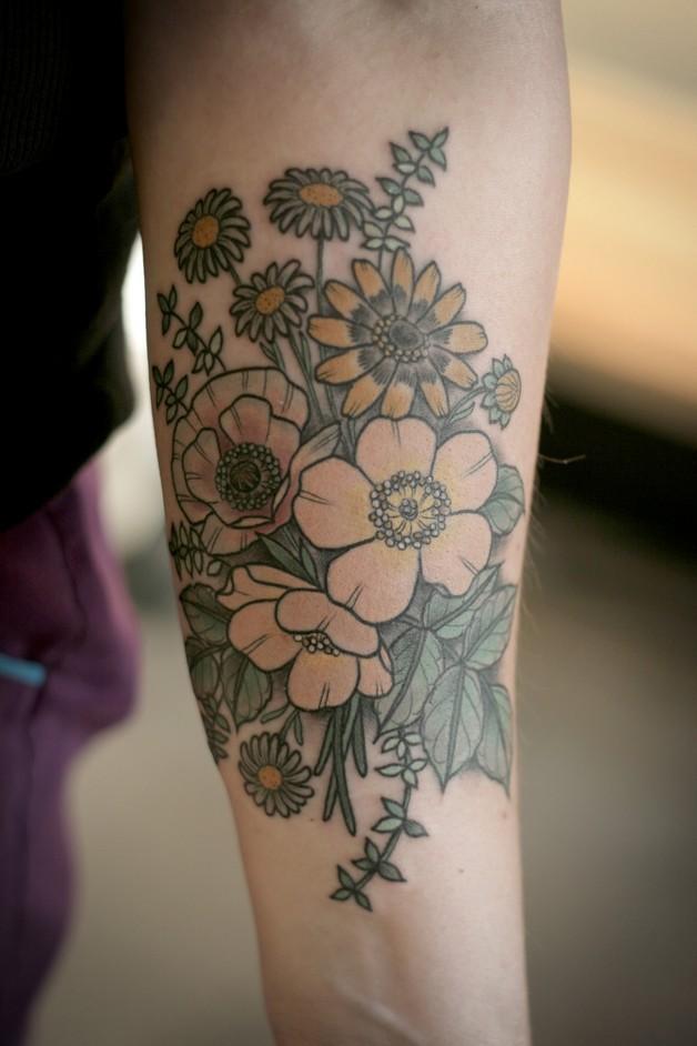 Floral Tattoo On Shoulder For Men photo - 1