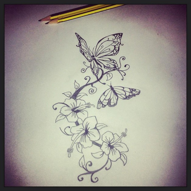 Flower Tattoo Design On Back For Girls photo - 1