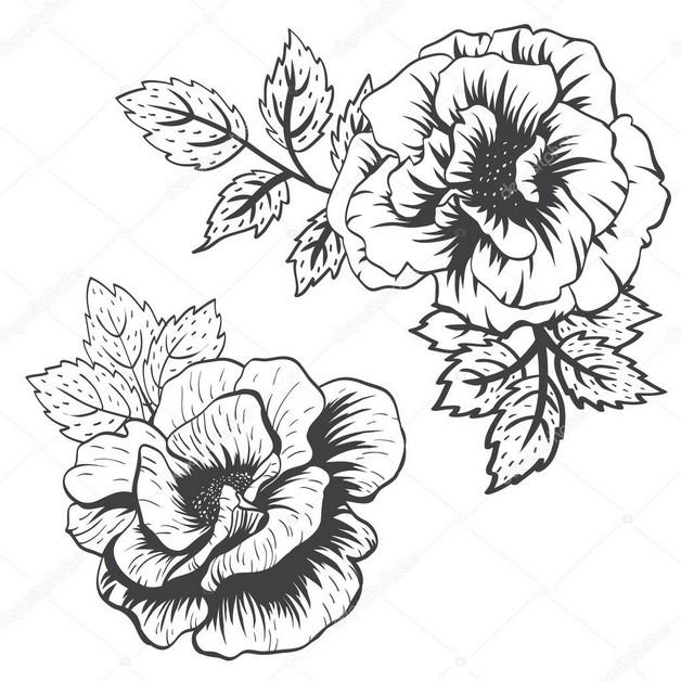 Flower Tattoo Stencil photo - 1