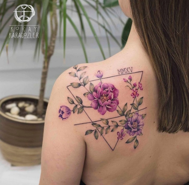 Flowers Tattoo Design For Back photo - 1