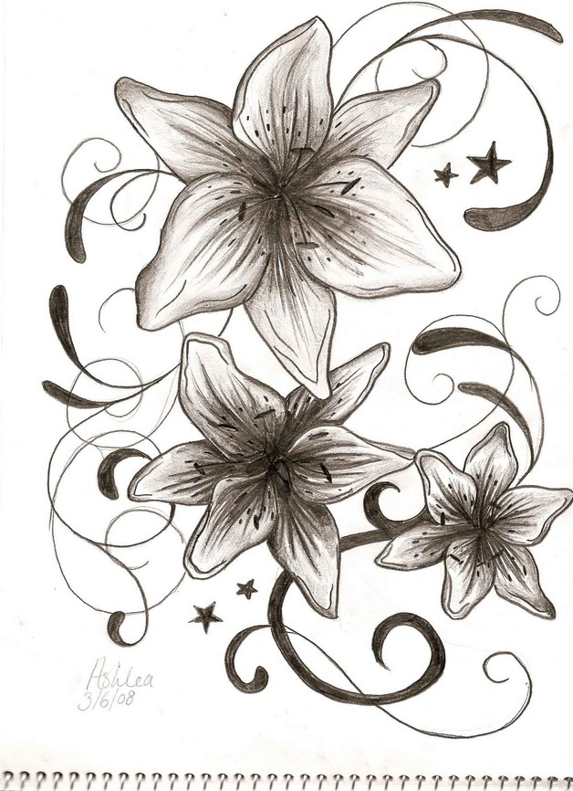 Flowers Tattoo Drawing photo - 1