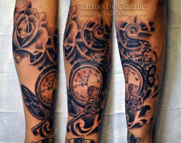 Full Sleeve Religious Asian Tattoo photo - 1