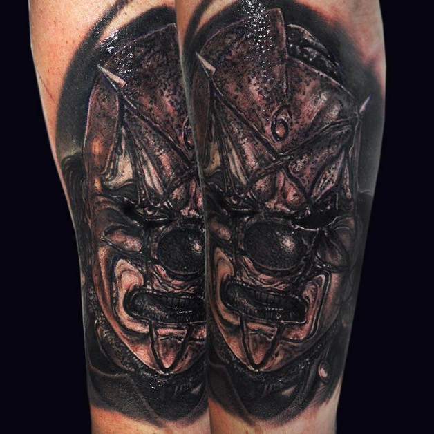 Funny 3d Hand Tattoo Design