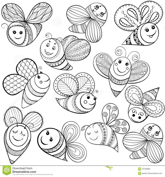 Funny Bee Tattoo Design photo - 1