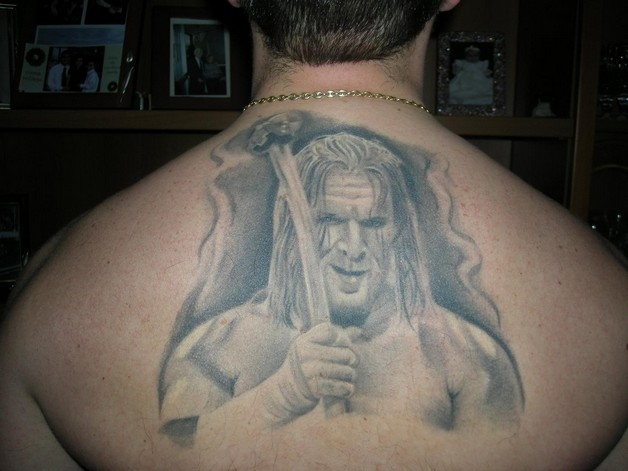 Funny Game Tattoo On Head photo - 1
