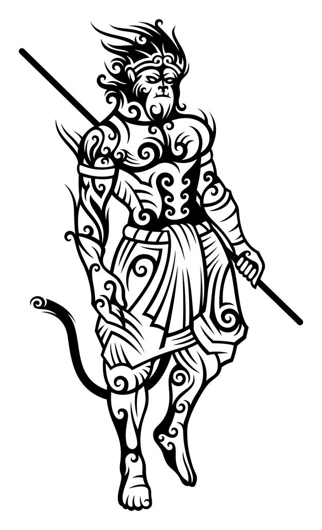 Funny Monkey Tattoo Image photo - 1
