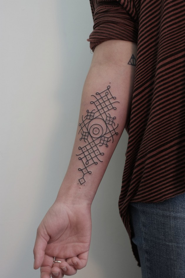 Geometric Diamond Tattoo On Forearm photo - 1