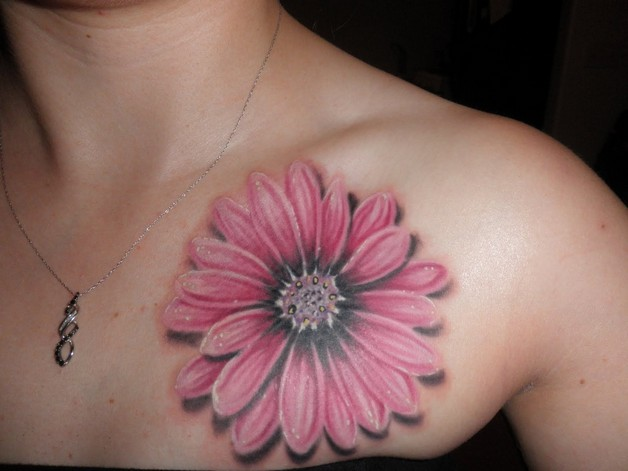 Gerber Daisy Flower Tattoo Design photo - 1