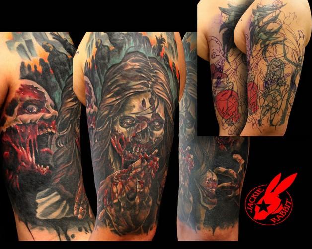Grey Ink Hot Jessica Rabbit Tattoo For Men photo - 1