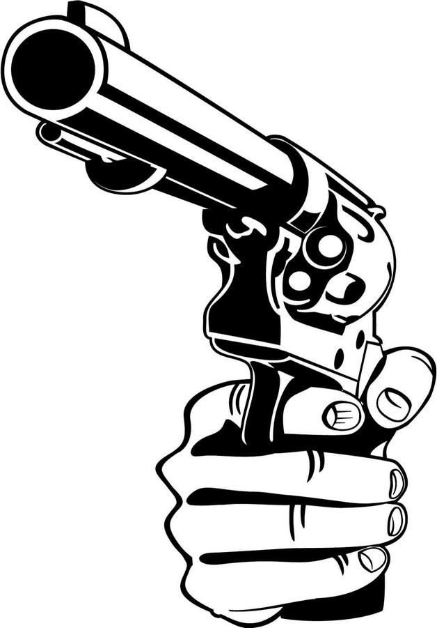 Hand Held Gun Tattoo Sample photo - 1