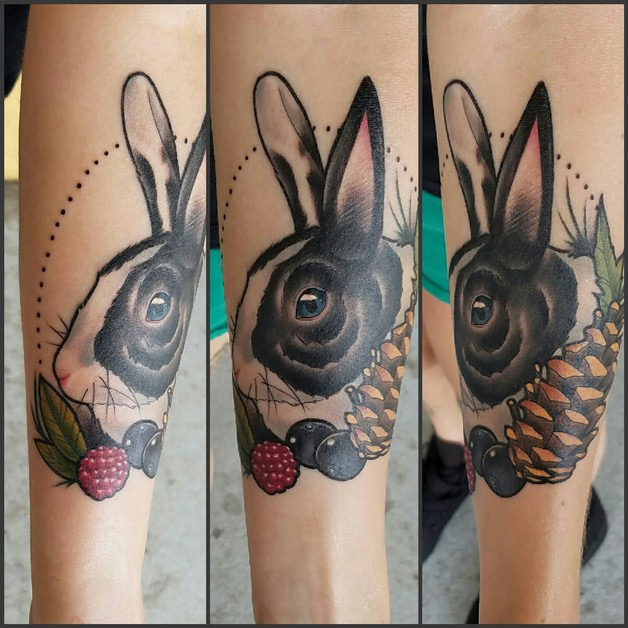 Have A Neo Traditional Rabbit Tattoo! photo - 1