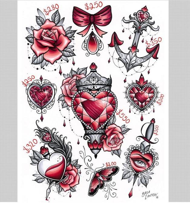 Heart In A Bottle Tattoo Design photo - 1