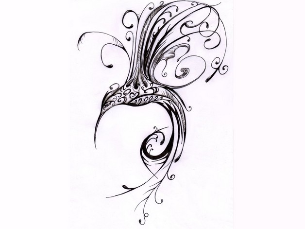Hummingbird Tattoo Design photo - 1