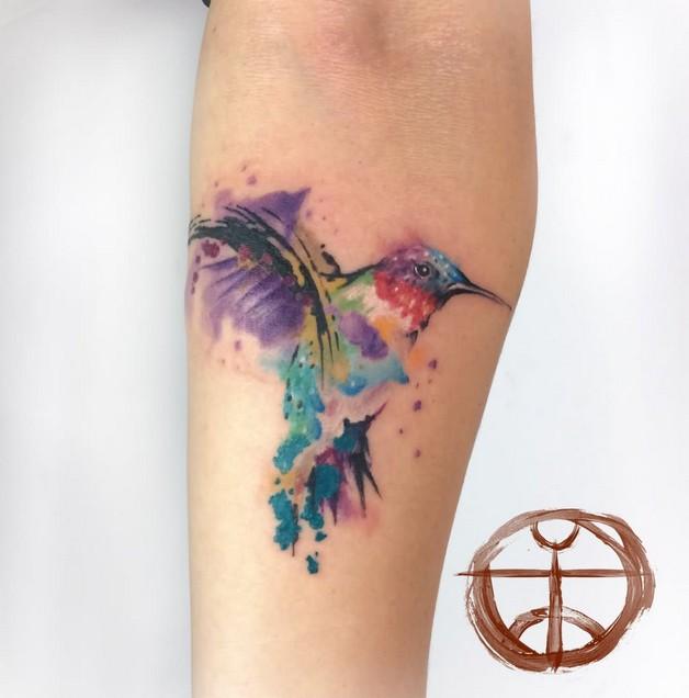 Hummingbird Tattoo Design For Girls photo - 1