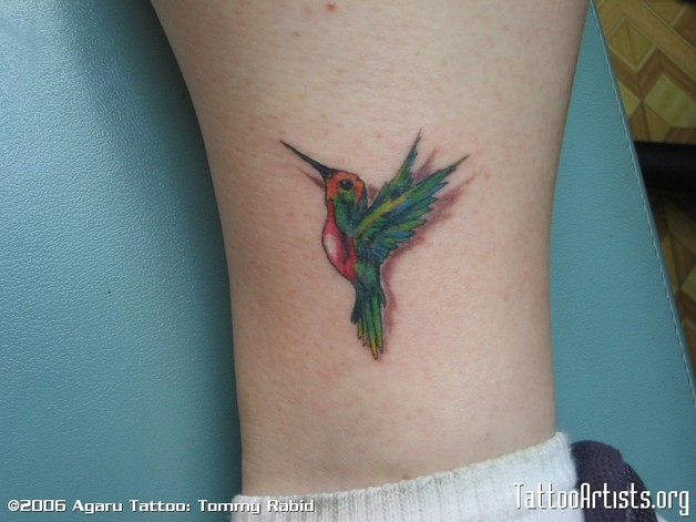 Hummingbird Tattoo For Ankle photo - 1
