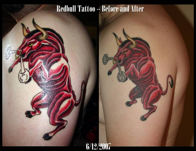 Ink Bull Tattoo On Biceps photo - 1
