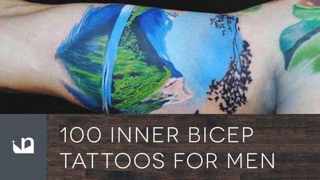 Inner Biceps Tattoo For Guys photo - 1