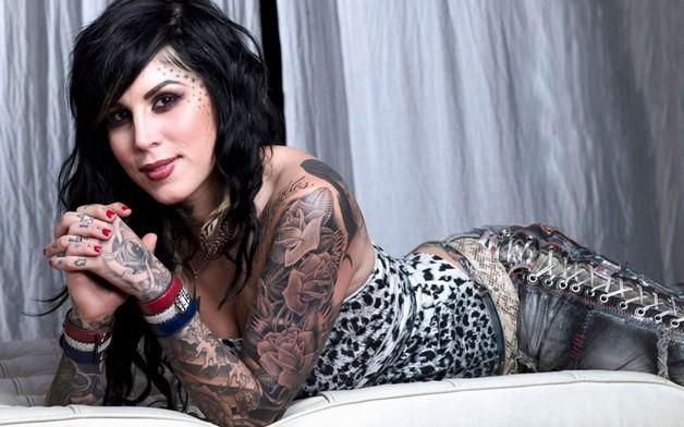 Kat Von D Pin Up Girl Tattoo On Arm photo - 1